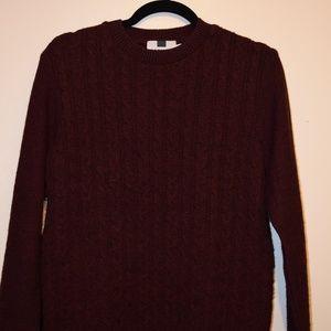Topman Crewneck Burgundy Sweater